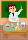 Scientist illustration of isolated in laboratory Royalty Free Stock Image
