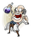 Scientist with Invention. Royalty Free Stock Photography