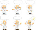 Scientist or professor customizable mascot a vector set of in many poses drawn in cartoon style this vector is very good for Stock Photo