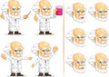 Scientist or professor customizable mascot a vector set of in many poses drawn in cartoon style this vector is very good for Stock Photography
