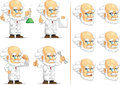 Scientist or professor customizable mascot a vector set of in many poses drawn in cartoon style this vector is very good for Royalty Free Stock Photo