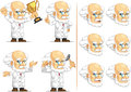 Scientist or professor customizable mascot a vector set of in many poses drawn in cartoon style this vector is very good for Stock Images