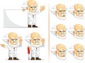 Scientist or professor customizable mascot a vector set of in many poses drawn in cartoon style this vector is very good for Stock Image