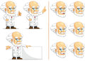 Scientist or professor customizable mascot a vector set of in many poses drawn in cartoon style this vector is very good for Royalty Free Stock Photography