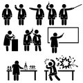 Scientist Professor Science Lab Pictograms Stock Photography