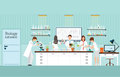Scientist research and experiments at Biology Science lab interior . Royalty Free Stock Photo