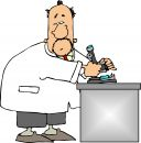 Scientist using a microscope Royalty Free Stock Image