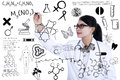 Scientist writes formula young asian on whiteboard Stock Photo
