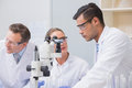 Scientists talking together in the laboratory Royalty Free Stock Image