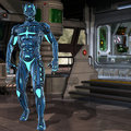 Scifi fantasy figure d render os a Royalty Free Stock Photography