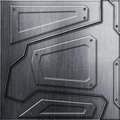Scifi wall. metal background and texture 3d illustration. Royalty Free Stock Photo