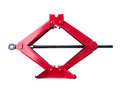Scissor jack red shot on white Royalty Free Stock Photography