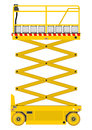 Scissor lift self propelled isolated on white background vector Stock Photos