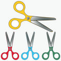 Scissors collection Royalty Free Stock Photo