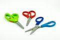 Scissors colorful school supplies and craft equipment Stock Image
