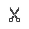Scissors, cut icon vector, filled flat sign, solid pictogram isolated on white.