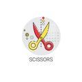 Scissors Equipment Work Office Tool Icon