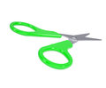 Scissors with green handles isolated render on a white background Royalty Free Stock Images
