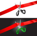 Scissors and ribbon Stock Photography