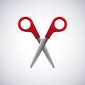 Scissors school supply icon