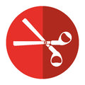 Scissors tool school icon shadow