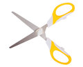 Scissors yellow isolated on white Stock Image