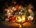 Scène de Noël. Carte de voeux Photographie stock libre de droits