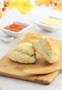 Scones with butter and jam Royalty Free Stock Photography