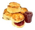 Scones And Strawberry Jam Royalty Free Stock Photo