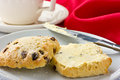 Scones and tea. Royalty Free Stock Photo