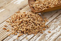 Scoop of farro grain Stock Photography