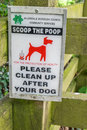 Scoop the poop sign allerdale area lake district national park keswick Royalty Free Stock Photography