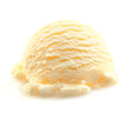 Scoop of Vanilla icecream Royalty Free Stock Photos