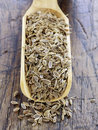 Scoopful of dill seeds Stock Images