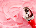 Scooping Strawberry Ice Cream Royalty Free Stock Photo