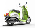 Scooter close up green on a light background Royalty Free Stock Images