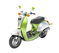 Scooter close up green on a light background Royalty Free Stock Photography