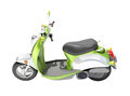 Scooter close up green on a light background Stock Photo