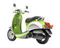 Scooter close up green on a light background Stock Photography