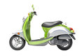 Scooter close up green on a light background Stock Images