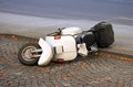 Scooter down on the street Royalty Free Stock Photo