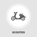 Scooter flat Icon