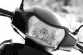 Scooter headlight beautiful shot of Royalty Free Stock Image