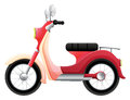 A scooter illustration of on white background Stock Images