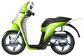 A scooter illustration of on white background Stock Photos