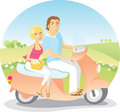 Scooter Ride in the Country Royalty Free Stock Photo
