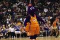 Scorch mascot for the phoenix mercury at talking stick resort arena Stock Photography