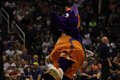 Scorch mascot for the phoenix mercury at talking stick resort arena Stock Photos