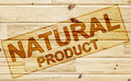 Scorched tag natural product on the wooden surface Stock Image