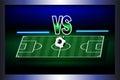 Score board of soccer match